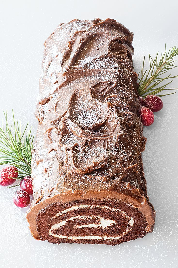 How to make a christmas yule log decoration - Festive Yule Log Enjoyed By Www Mygrowingtraditions Com
