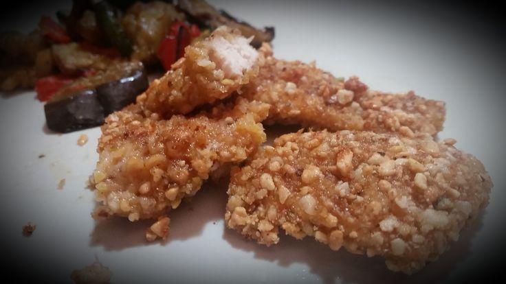 Bocconcini di petto di pollo con frutta secca