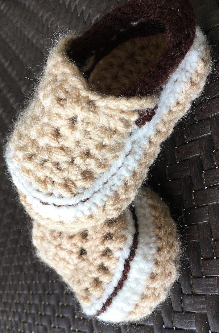 42 mejores patrones de botines de bebé de ganchillo gratis | Botines ...