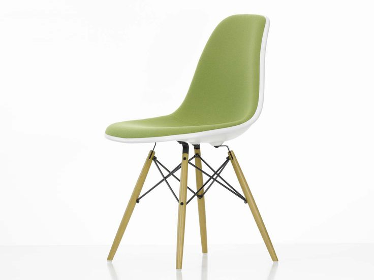 Buy the Vitra DSW Eames Plastic Side Chair - Upholstered online at ...