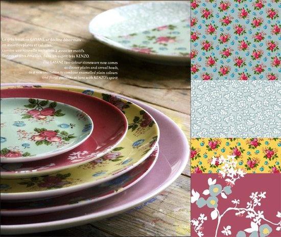 kenzo art de la table osez le fleuri dans vos assiettes