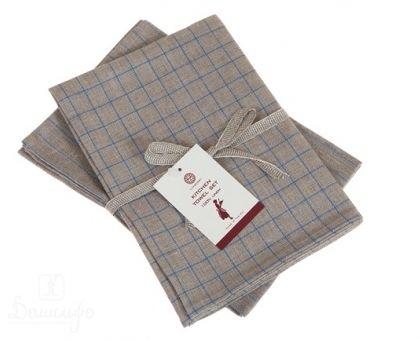 Купить набор льняных полотенец TIMELESS MAXI натуральный/синий (2шт) от производителя Luxberry (Португалия)