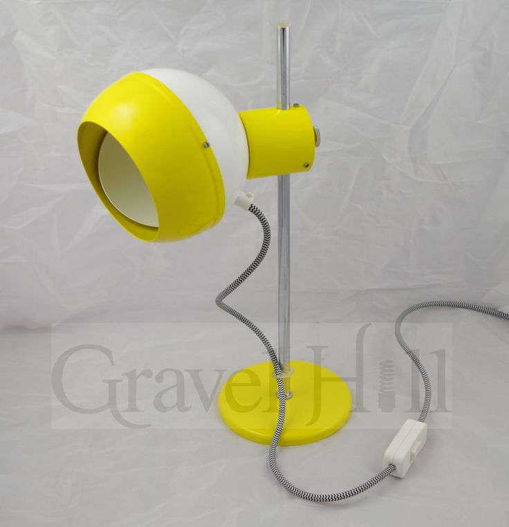 Drukov Brn Eyeball Desk Lamp In Yellow-White c1960s