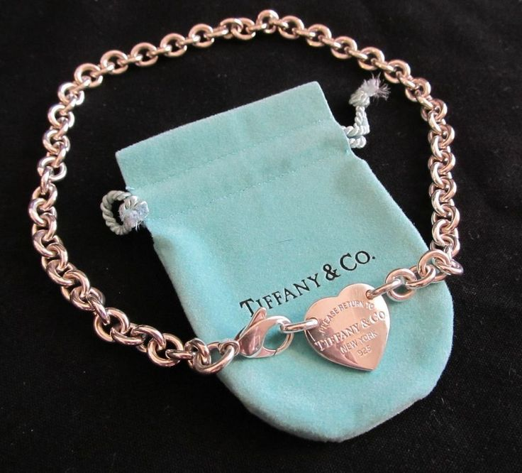 e00cc8fff ... necklace sterling silver 16; authentic tiffany return to tiffany heart  tag choker ...