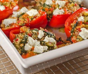Kleurige gevulde paprika's met quinoa Vivonline Viv Online