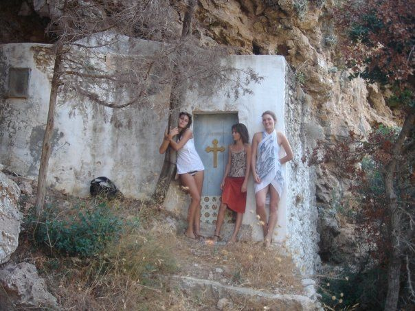 Church on Mylopotamos waterfall trail