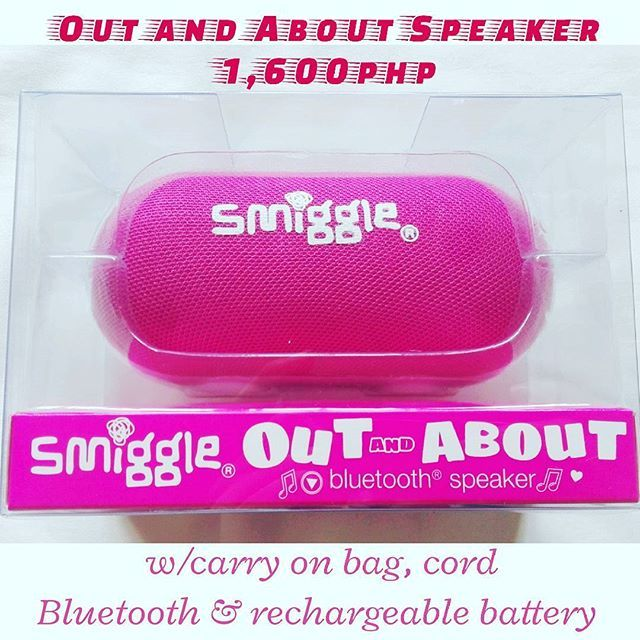 1,600php!  Out & AbOut Speaker (Last 1) 🎄Super Mega Christmas Sale🎄  Get yours now! Few stocks left! 📲Viber:09959608797 📥DM: @smiggle_sale_ph 🌐FB: Lozada Ann (Smiggle Collections Manila) #smigglecollectionsmanila #smigglesaleph