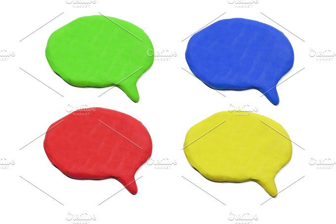 isolated plasticine speech bubble by charnsitr on @creativemarket