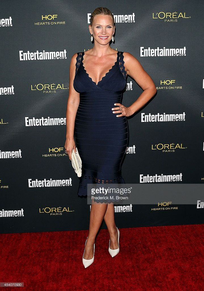 Actress Natasha Henstridge attends Entertainment Weekly's Pre Emmy Party at the Fig & Olive Melrose Place on August 23, 2014 in West Hollywood, California.