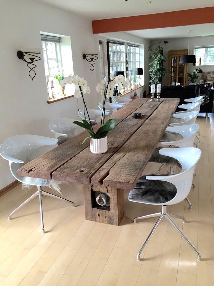 THORS Gaia table with loop chairs  #diningtable #reclaimedtimberfurniture #designerfurniture #danishdesign