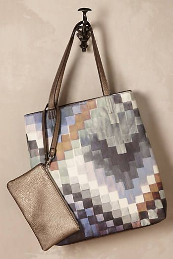 Misty Patchwork Tote