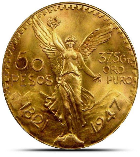50 Moneda de oro Peso 1,206 oz de oro por los lingotes en Etsy