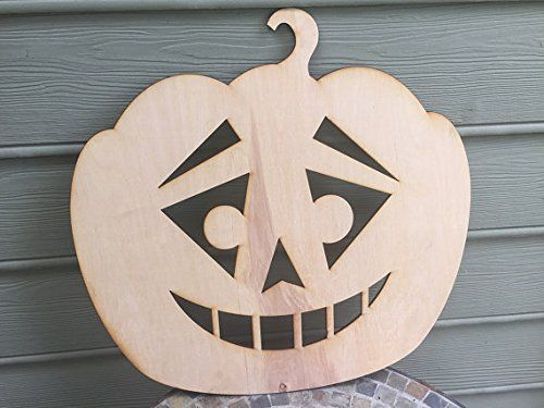Infinity Sarcastic Face Wooden Pumpkin Sign Small 5mm Thick Plywood Unfinished 10 W 10 L ** For more information, visit image link.