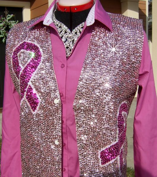 Tough Enough Sequin Rodeo Queen Vest- available by order $60