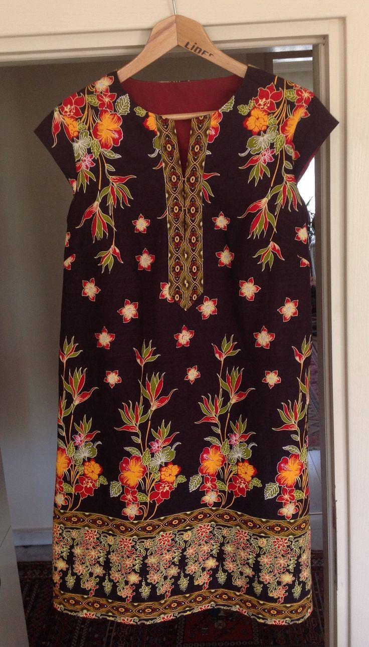 Sommerkleid nach Burda 11/2012 Modell 113 aus afrikanischem Baumwollstoff