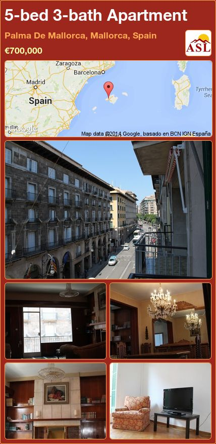 5-bed 3-bath Apartment in Palma De Mallorca, Mallorca, Spain ►€700,000 #PropertyForSaleInSpain
