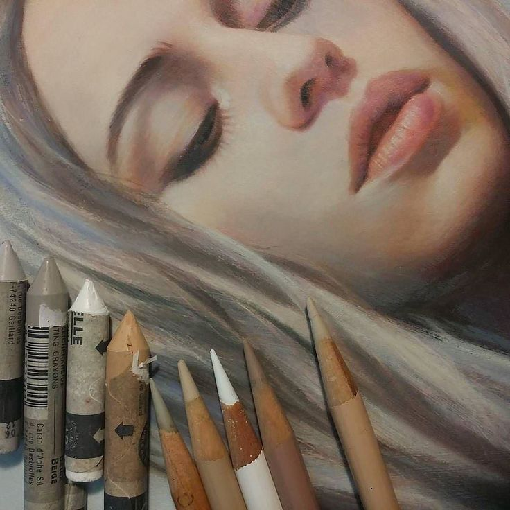 WANT A FEATURE ? CLICK LINK IN MY PROFILE !!! Tag #LADYTEREZIE Repost from @jel_ena_art Wip for a secret project acrylic wax pastels color pencil and fingers blend till they bleed >_ via http://instagram.com/ladyterezie