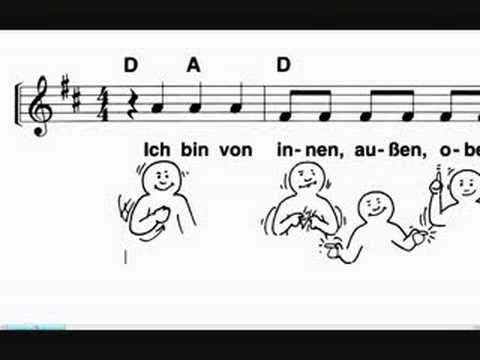 Ich bin von innen, außen, oben, unten  - Kinderlied - Songtext - Kostenl...
