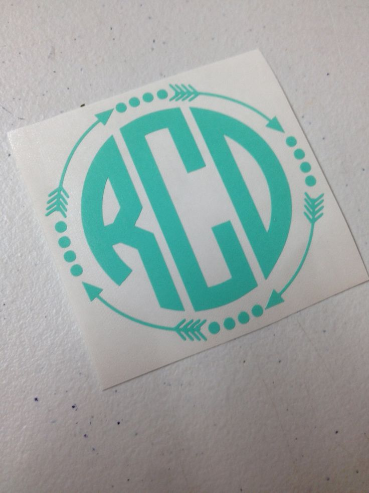 Circle Arrow Monogram Decal - pinned by pin4etsy.com