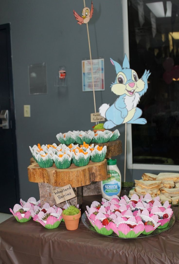 Bambi And Thumper Food Party Snacks Bambi Birthday Party