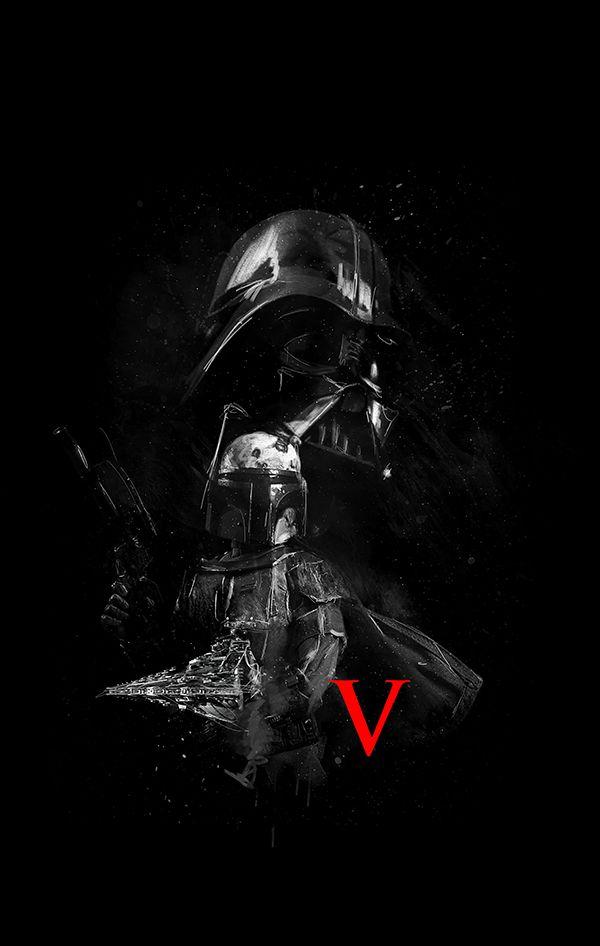 V Empire Strikes Back Alternative Movie Poster #StarWars #EmpireStrikesBack #ThePhantomMenaceWasAwful