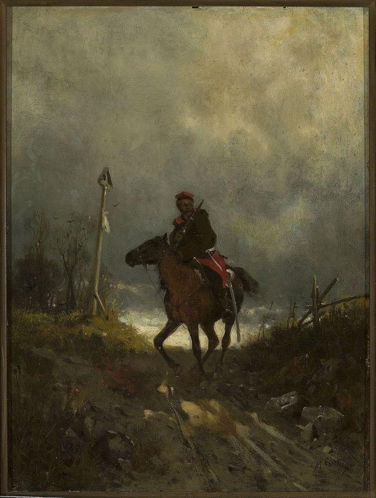 Maksymilian Gierymski (1846-1874)     Powstaniec z 1863 roku   ( W drodze, Posłaniec, Jeździec,)  ok. 1869