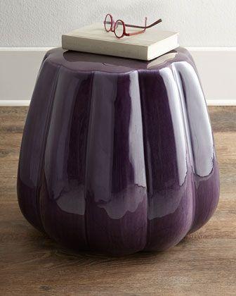 "Ceramic Garden Stool at Horchow | 18.5""dia x 16""h | 24 lbs | 160.00"
