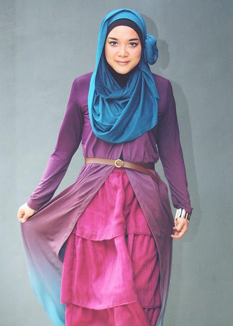 "(via Last Minute Girl: Hijab Tutorial 5: ""Decorative Hijab"")"