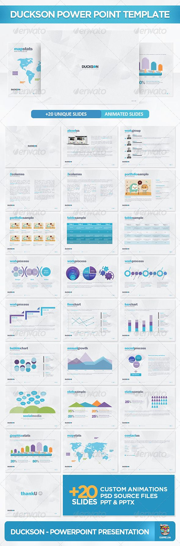 Duckson PowerPoint Presentation Template - GraphicRiver Item for Sale