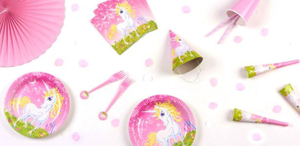 Idee festa di compleanno Unicorno rosa per bambine - VegaooParty