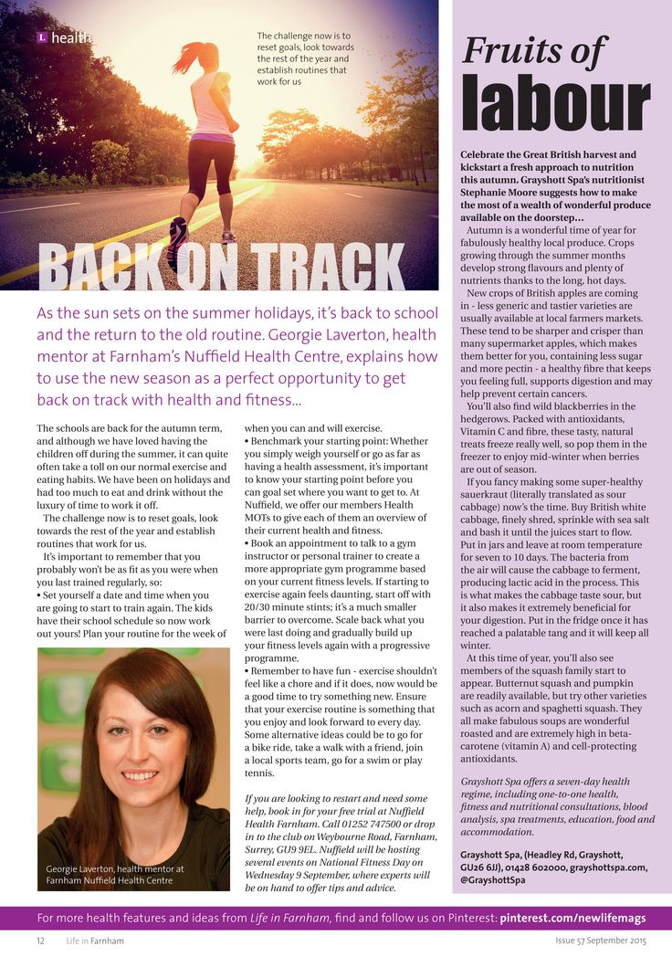 Back on track ~ How to hit your fitness goals this autumn. Fruits of labour ~ Making the most of the autumn harvest on the doorstep. #locallife #health #fitness #autumn #food #ideas #inspiration #Farnham #Surrey