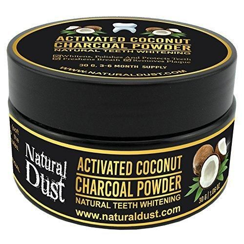 Activated Charcoal Teeth Whitening - 100% Organic Coconut Activated Charcoal Powder Tooth Whitener. No need for Whitestrips Gel or Teeth whitening toothpaste