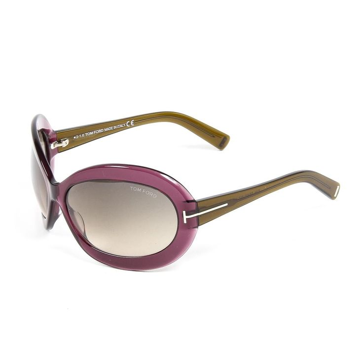 Tom Ford FT0428-81T Edie Women's Oversized Sunglasses, Purple