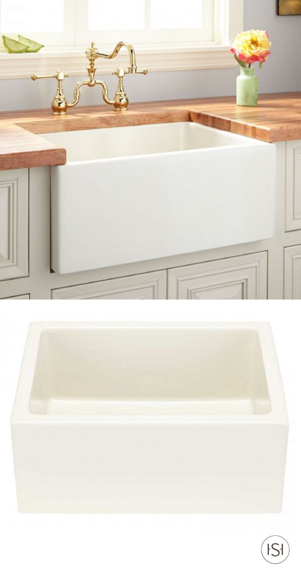 The Adams Fireclay Farmhouse Sink Will Seamlessly Pair With Your  Country Chic Kitchen Design.