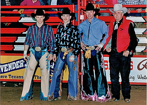 Ty Murray, Jim Sharp, and Tuff Hedeman. AM GLAD to say I have met the first two on the left.
