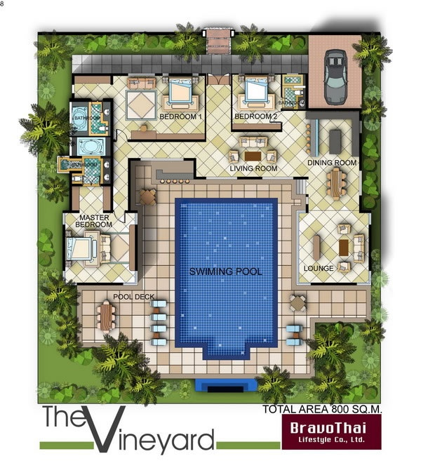 Floor plan in bali