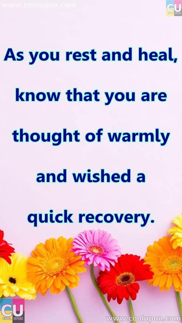 50 Inspiring and Funny Get Well Soon Quotes and Poems For ...