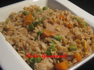 Riz brun frit au porc / Bedon Gourmand