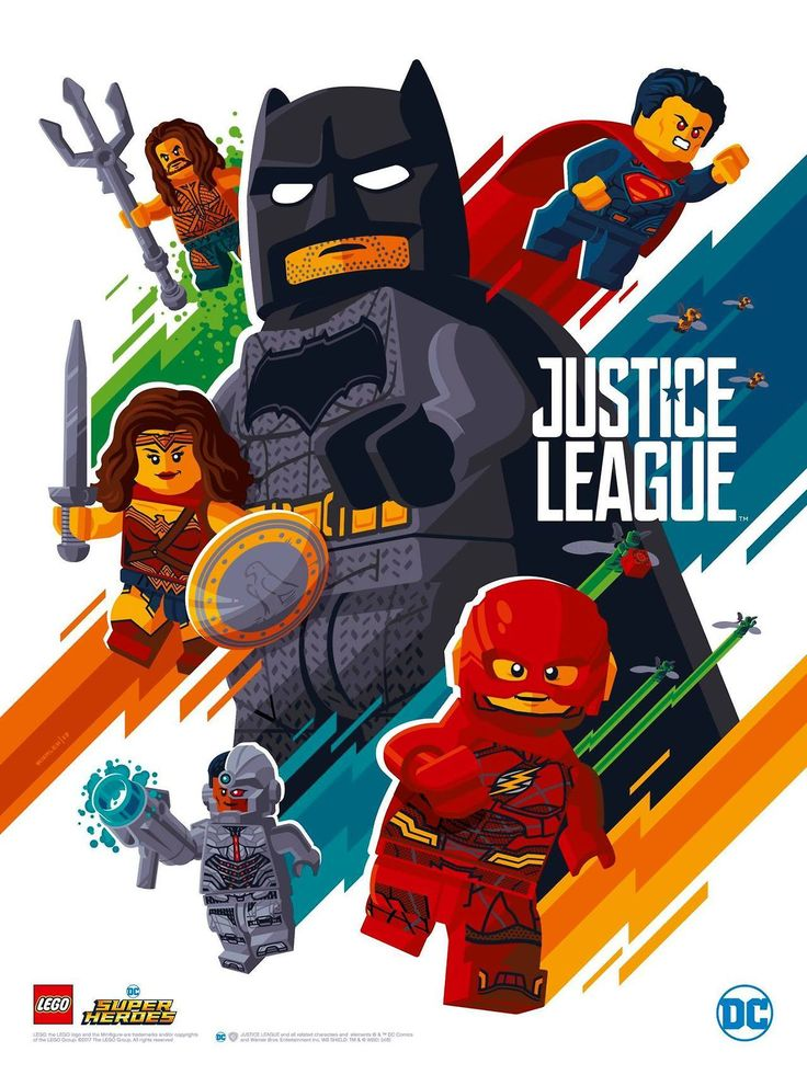 LEGO Justice League Poster - Tom Whalen