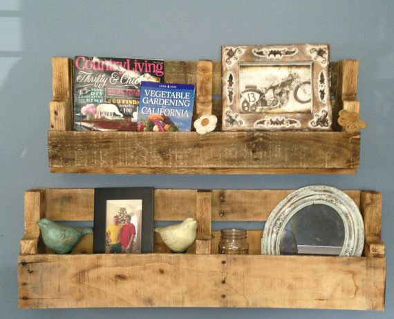 Recycled Pallet Shelves/Shelf by PrettyRough on Etsy, $25.00