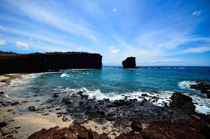Have you ever seen Puu Pehe on the Island of #Lanai? The iconic landmark is also known as Sweetheart Rock. #travel #Hawaii #gohawaii
