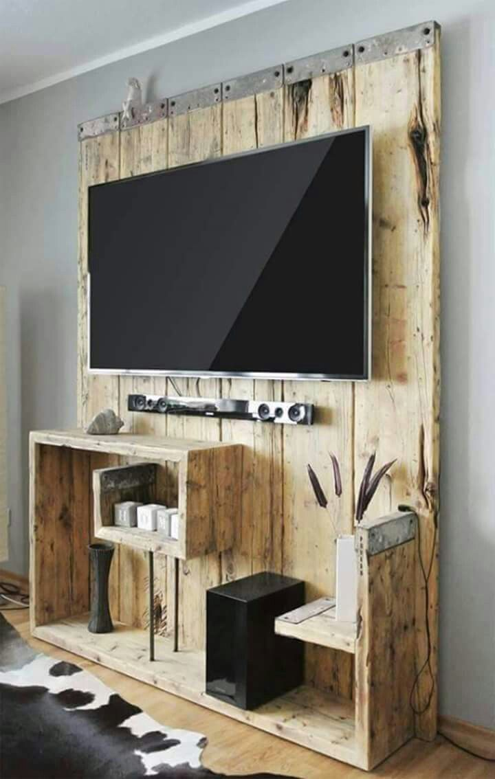 Awesome Idea Instead Of Damaging The Wall I Can Hide Everything Behind Wood