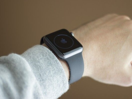 We're handling the 42 mm space gray Apple Watch Sport with black strap (Photo: Will Shankl...