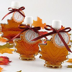 Maple syrup favors