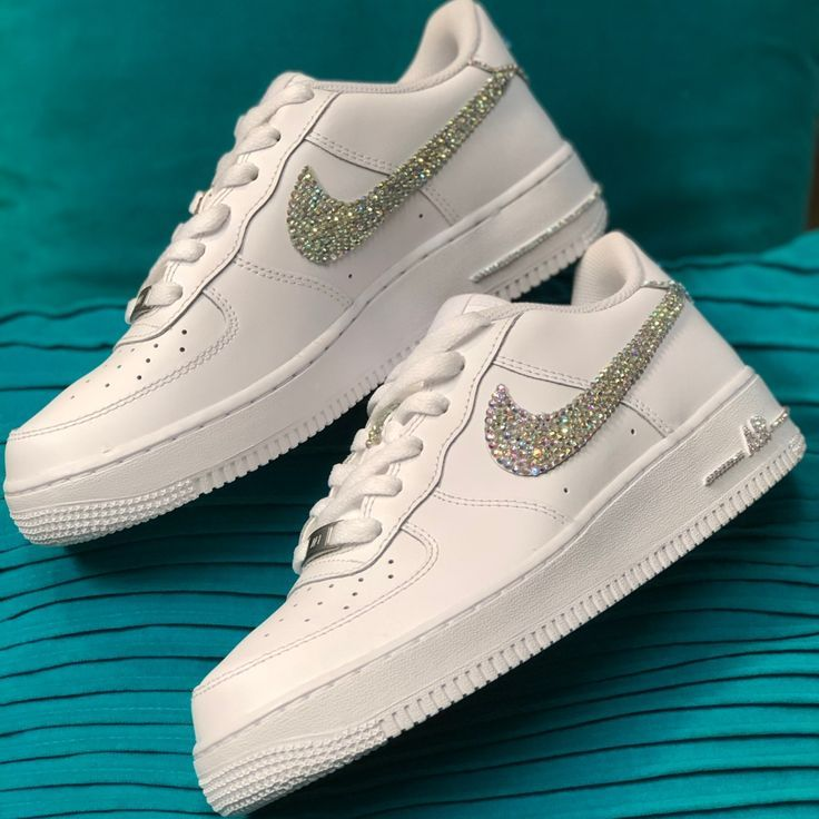 Nike Shoes Custom Embellished Nike Air Force 1 Various Sizes Color White Zapatos Tenis Para Mujer Zapatos Nike Para Damas Zapatos Deportivos De Moda