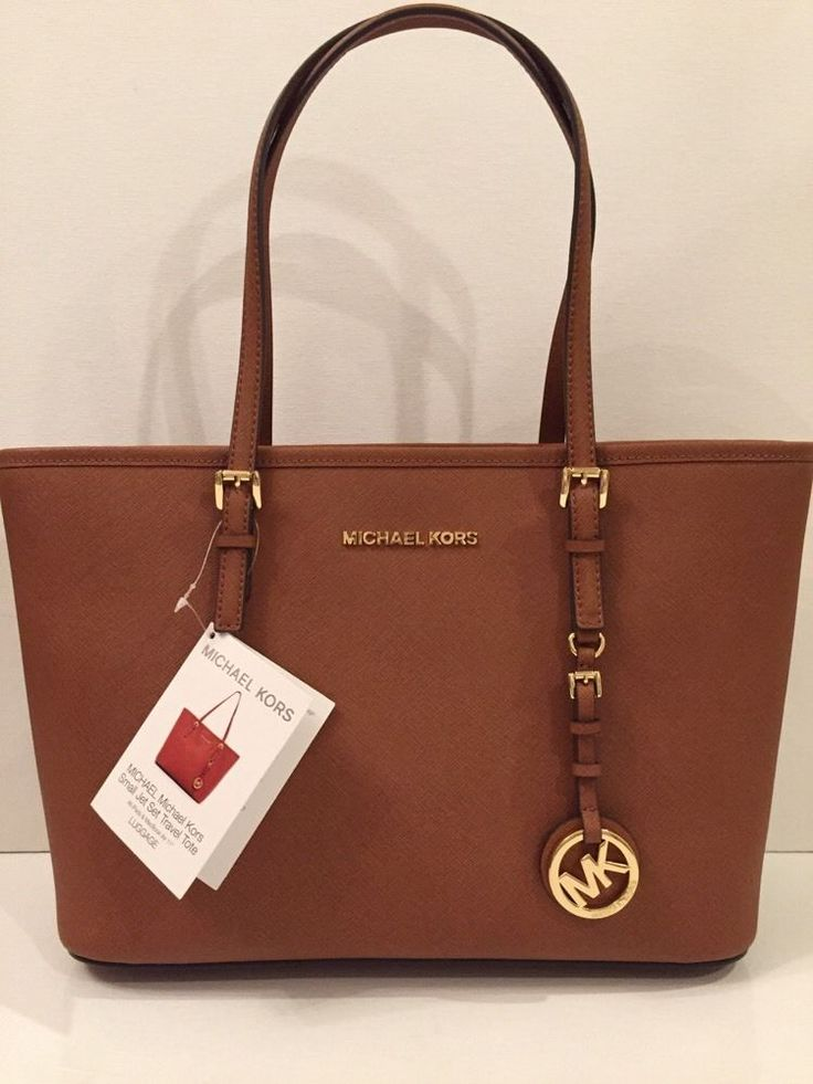 Michael Kors Jet Set Small Travel Tote Saffiano Leather Luggage | eBay