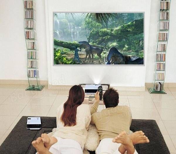UC40 Home Cinema HD 800LM AV HDMI USB & SD Mini LED Projector Sale - Banggood.com