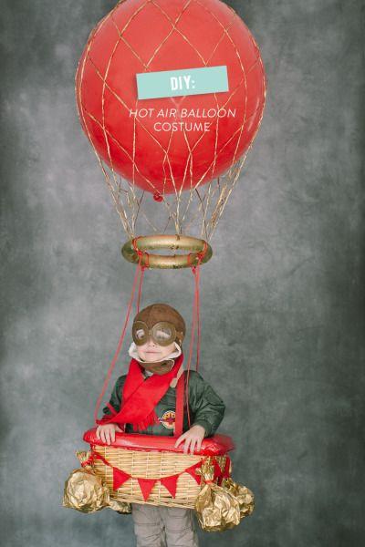 Hot air balloon costume: http://www.stylemepretty.com/living/2013/10/15/hot-air-balloon-costume-diy/ | Photography: Ruth Eileen - http://rutheileenphotography.com/