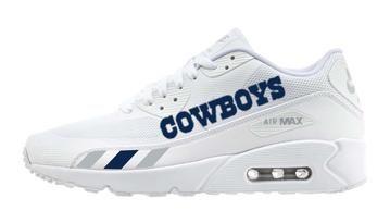 7fd5a1d459b8 Bandana Fever Dallas Cowboys Stripes Print Custom White Nike Air Max Shoes