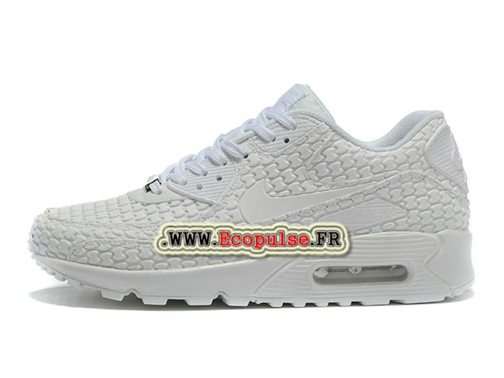 Nike Air Max 90 Collection 2015 (Nike iD) Chaussures Nike Sportswear Pas Cher Pour Femme Blanc 813152-615